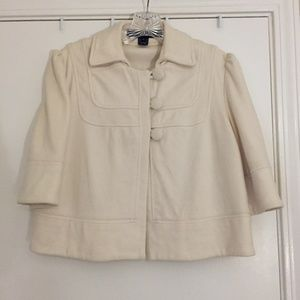 French Connection cream cropped jacket